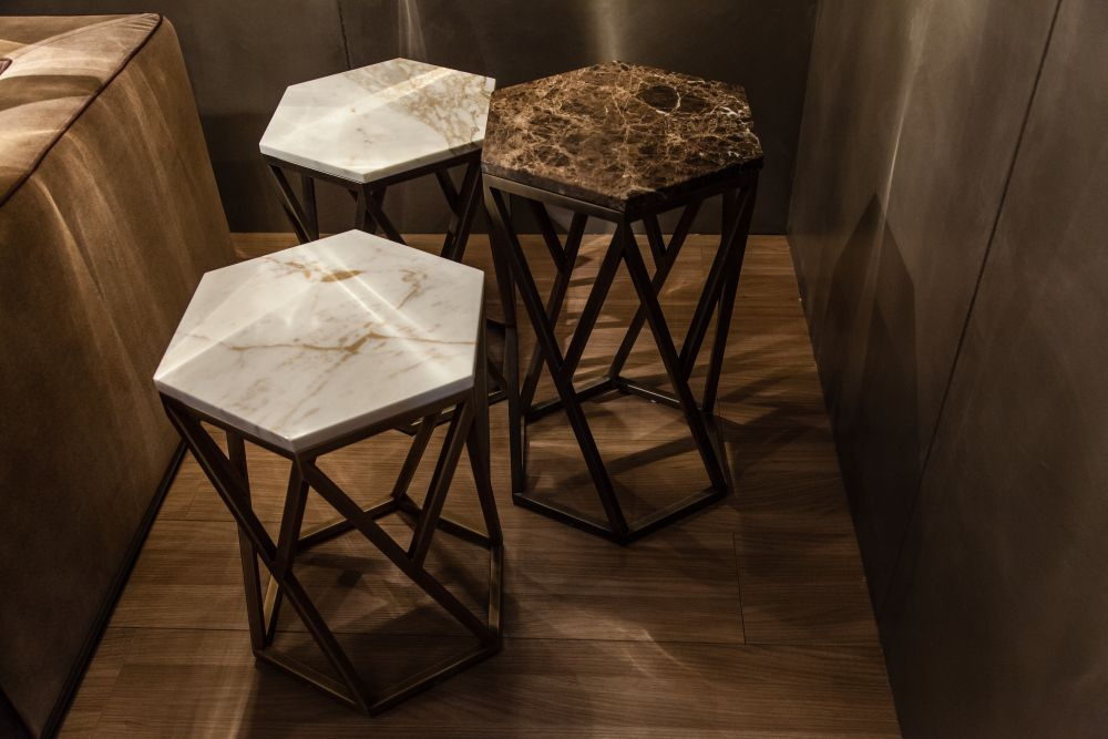 marble top side tables add class and