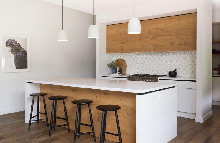 White Kitchen Grey Walls