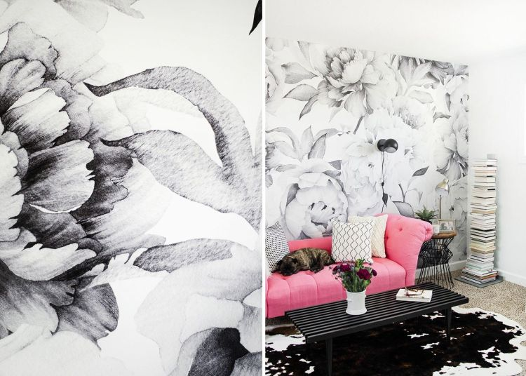 Black And White Wallpapers To Help You Finish Decorating