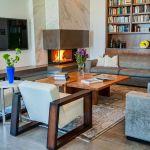 Top Innovative Modern Living Room Corner Fireplace Multitude 5427 Wtsenates