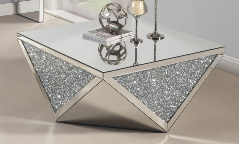 mirrored coffee table the glamorous