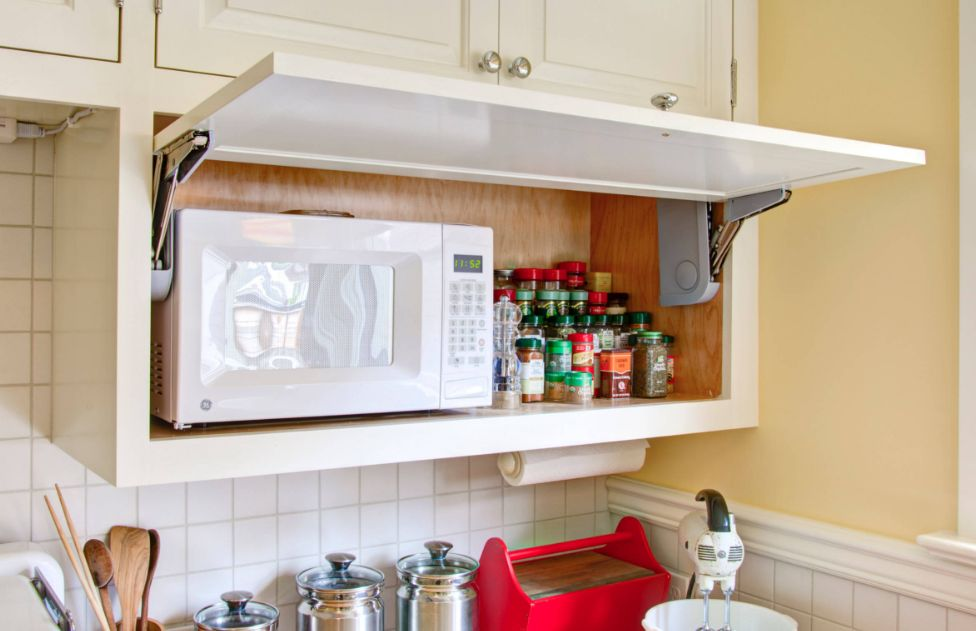 how a microwave shelf can improve your