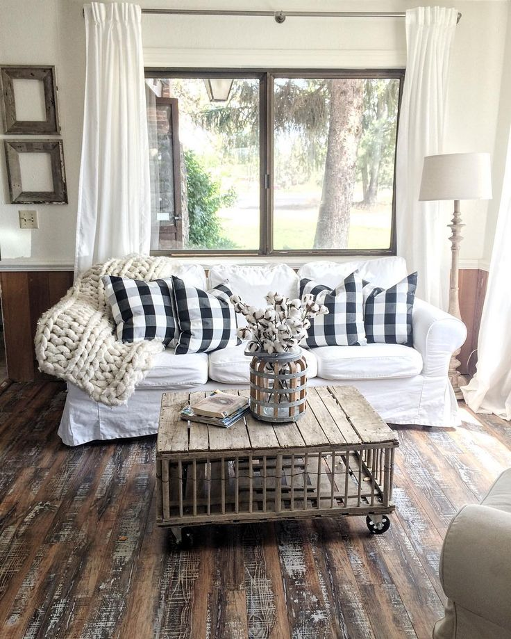 40 Rustic Living Room Ideas To Fashion Your Revamp Around 27  With Buffalo Check
