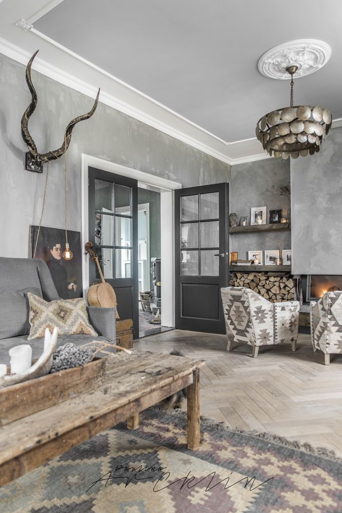 40 Rustic Living Room Ideas To Fashion Your Revamp Around View in gallery      Doris Leslie Blau showcased this stunning rustic living  room