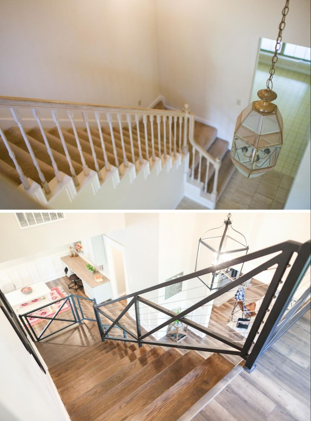 How To Give Your Old Stair Railings A Fresh New Look On A Small Budget | Diy Modern Stair Railing | Wall Mount | Cable | Model Modern Staircase | Different Style | Contemporary