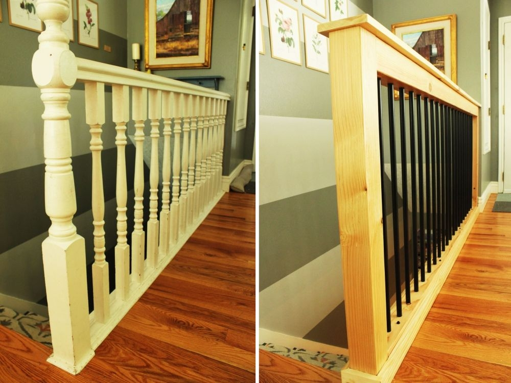 How To Give Your Old Stair Railings A Fresh New Look On A Small Budget | Wood Railings For Steps | Craftsman Style | Inside | Glass | Verandah | Stair Outdoors