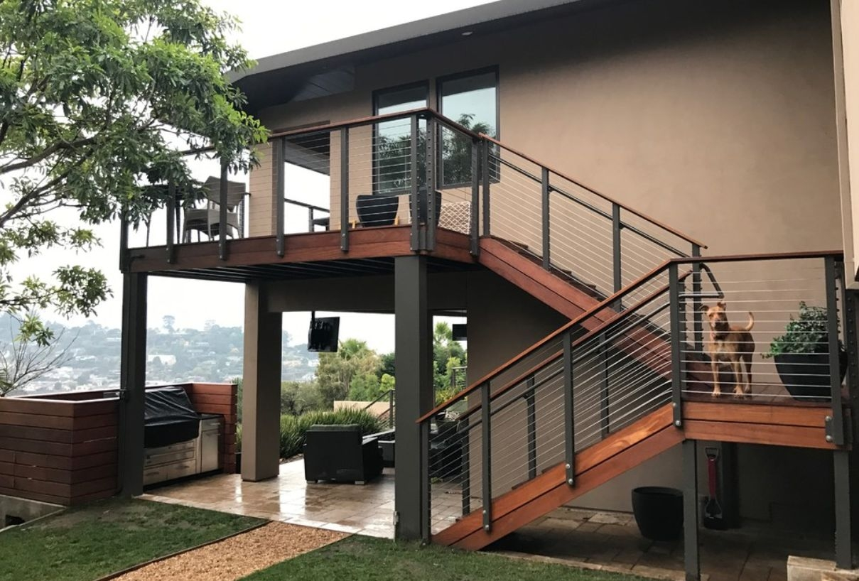Modern Outdoor Stair Railing Designs And Ideas That Actually Make | Modern Staircase Design Outside Home | Msmedia | Stair Case | Spiral Staircase | Decorative Wrought | Iron Railings