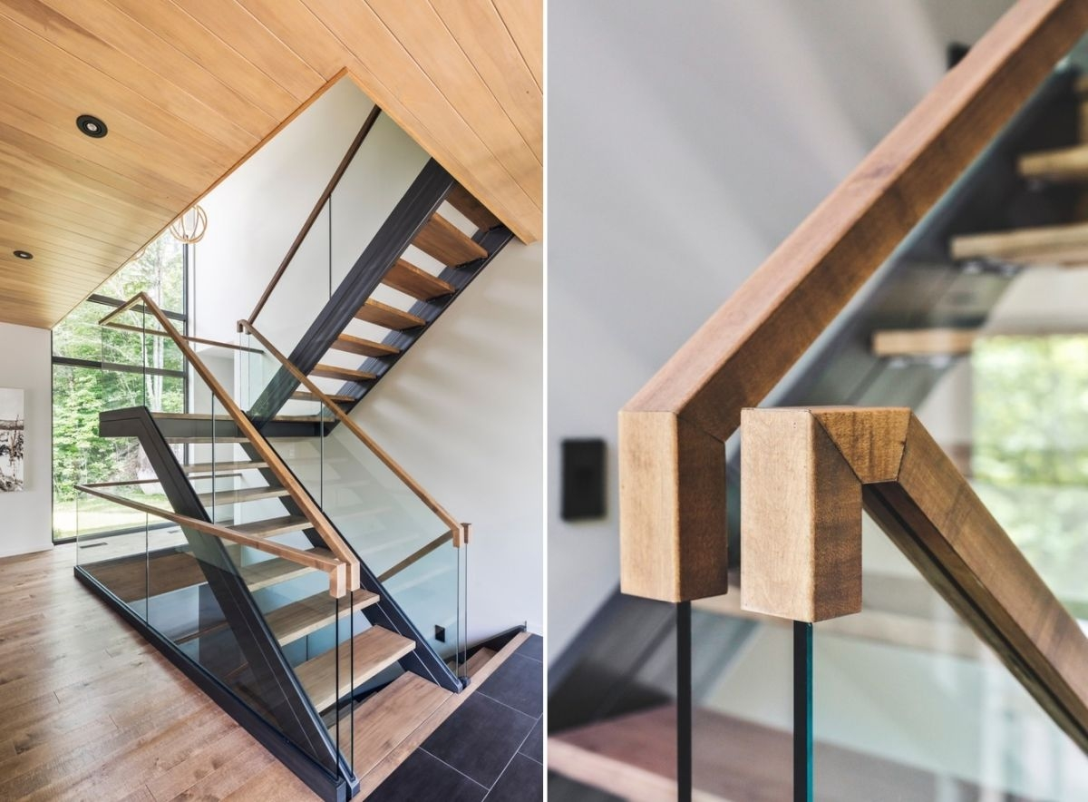 10 Stair Handrail Ideas With Glamorous Designs   Handrails For Stairs Interior   Spiral Stair   Industrial   Modern   Oak   Rustic