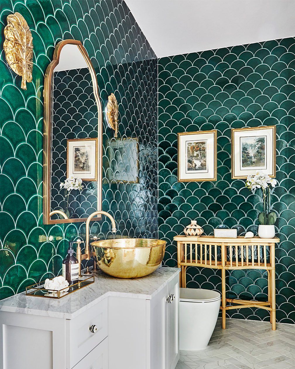 10 green bathrooms with gorgeous