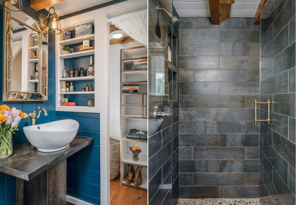 how to deal with a tiny house bathroom