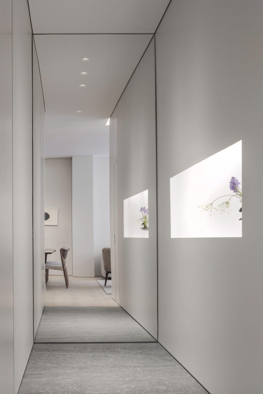 First apartment in Tadao 01 850x1275 Peaceful and Elegant Apartment Designed by 152 Elizabeth Located in New York, USA