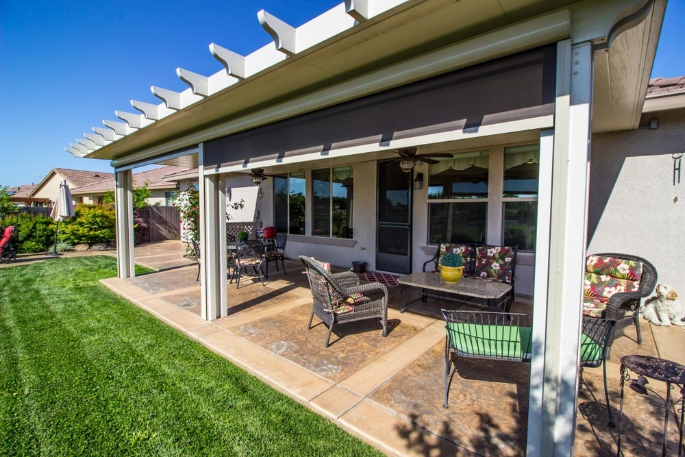 2020 Concrete Patio Cost Average Cost To Pour Install | Patio With Stairs From House | Residential | Curved Paver | Main Entrance Stamped Concrete Front | Walkout Basement | Decorative