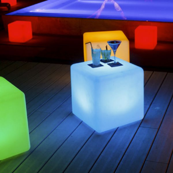 space lighting rechargeable cube patio