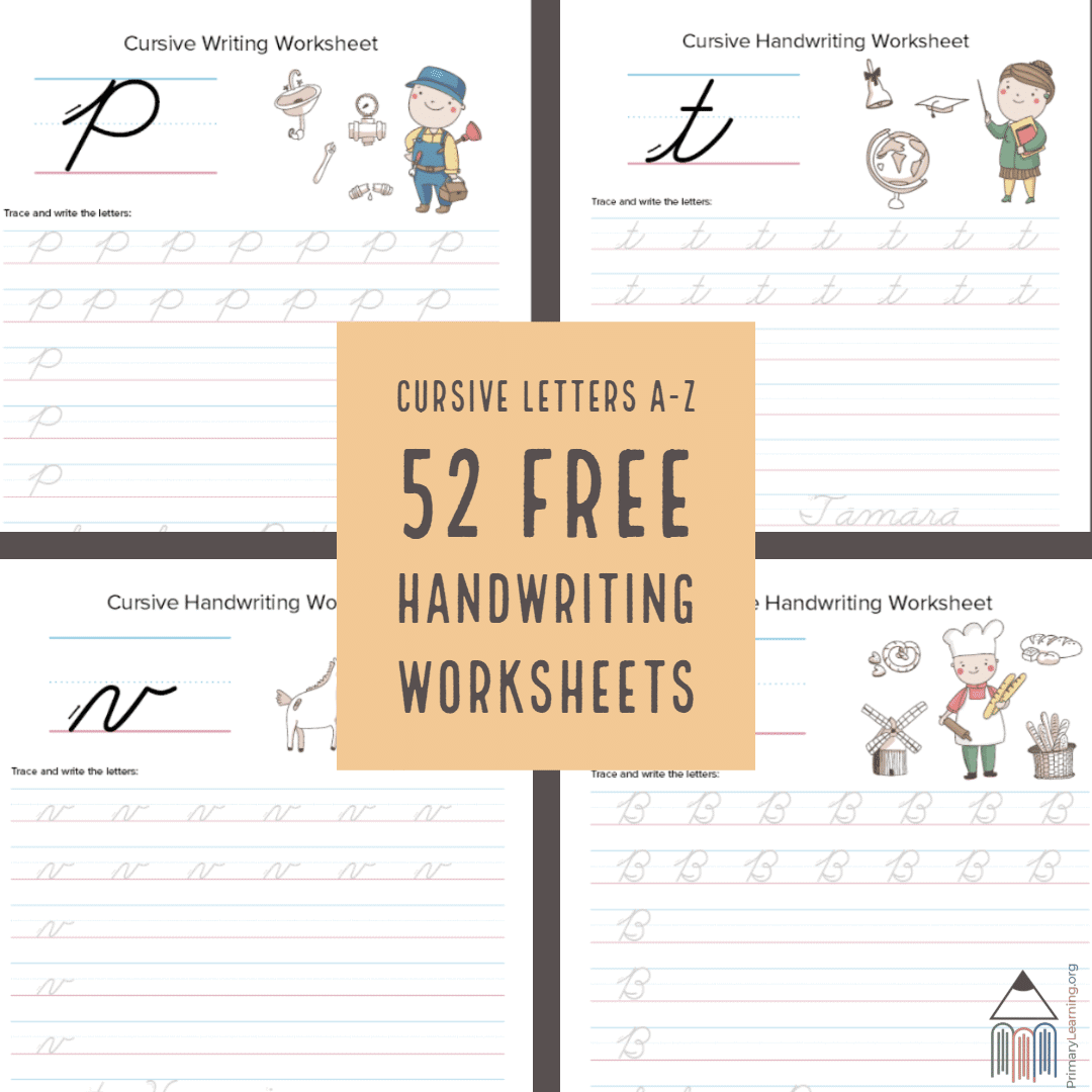 Cursive Worksheet Review