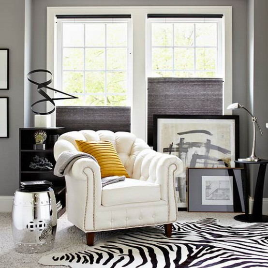 21 Creative&Inspiring Black And White Traditional Living ...