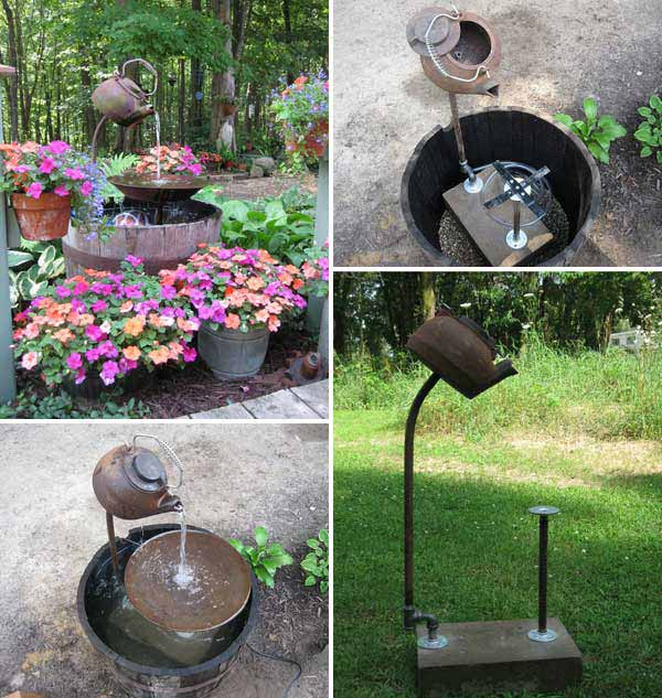 26 Wonderful Outdoor Diy Water Features Tutorials And Ideas