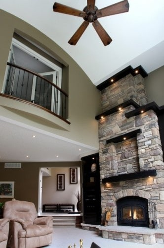 Family Room Decorating Large Fireplace