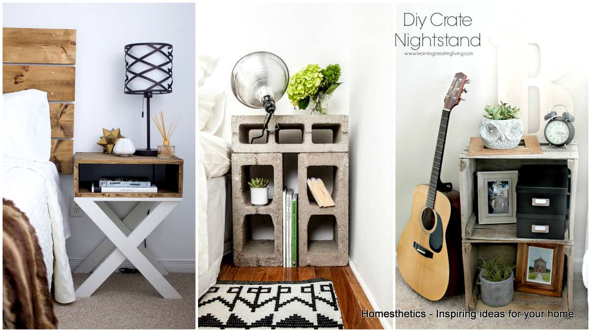 33 Simply Brilliant Cheap DIY Nightstand Ideas   Homesthetics     33 Simply Brilliant Cheap DIY Nightstand Ideas