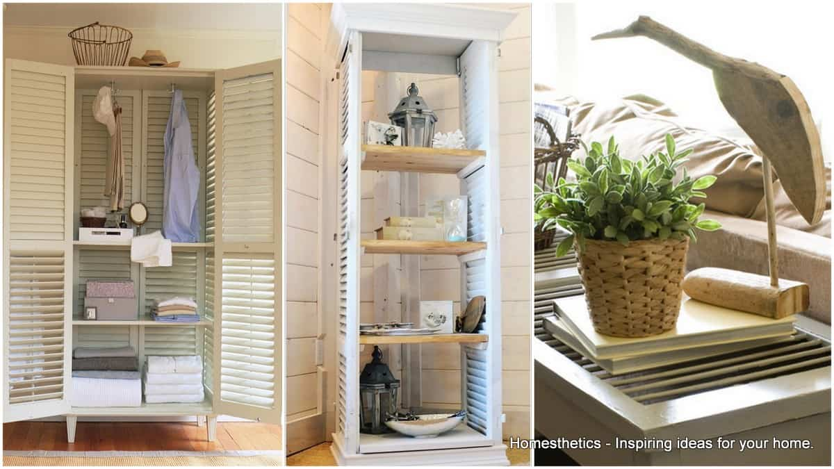 10 Ideas On How To Repurpose Window Shutters In Your Home
