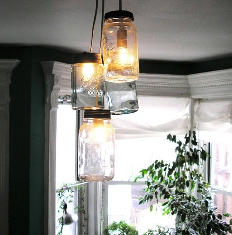 MORE MASON JAR PENDANT LAMPS
