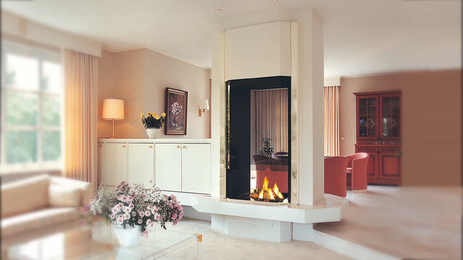 20 Functional Double Sided Fireplaces For Your Spacious