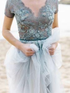 unique blue wedding dress