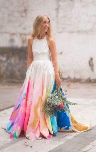 unique painted dress