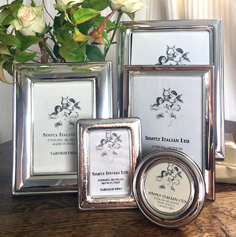 Selection of silver freestanding photo frames