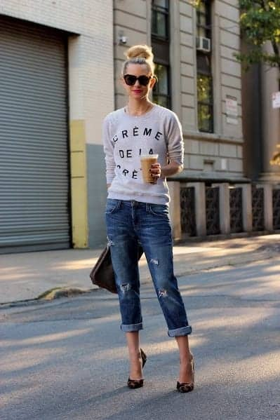 summer outfits boyfriend jeans
