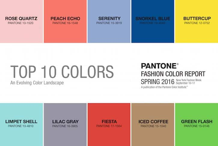 pantone spring summer 2016 color trends