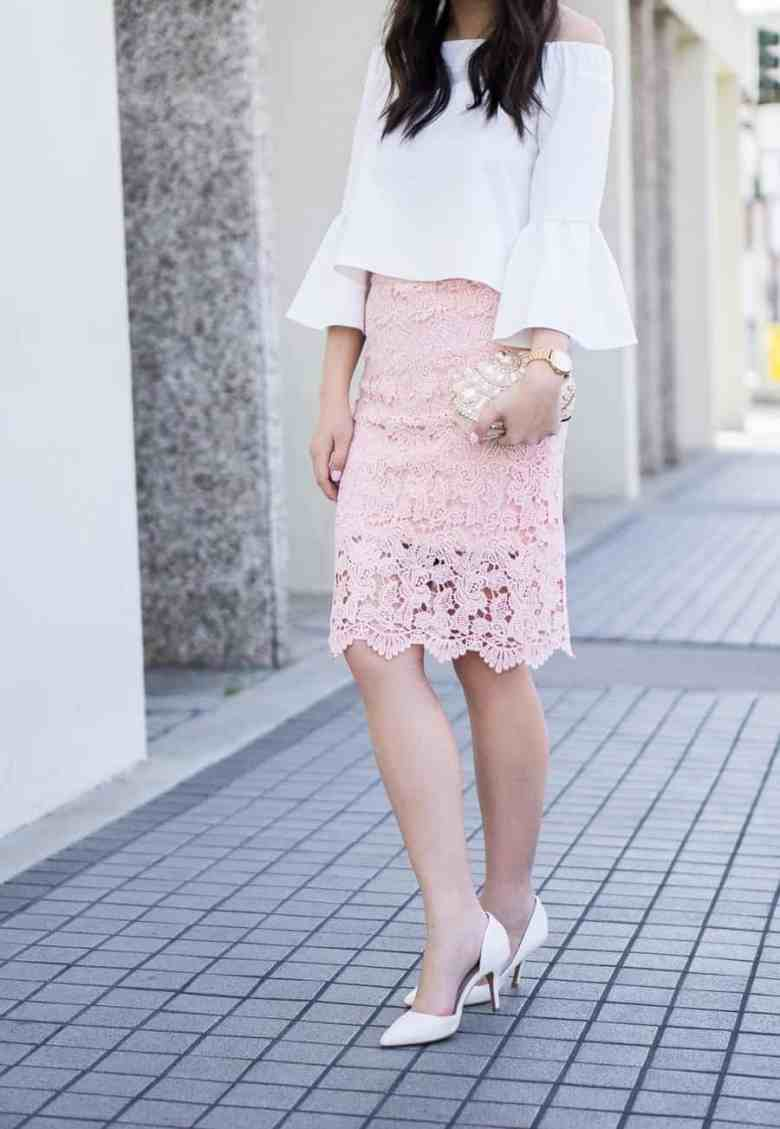 justatinabit-lace-pencil-skirt-outfit-bell-sleeves-off-the-shoulder-top-spring-fashion-petite-fashion-blog-4