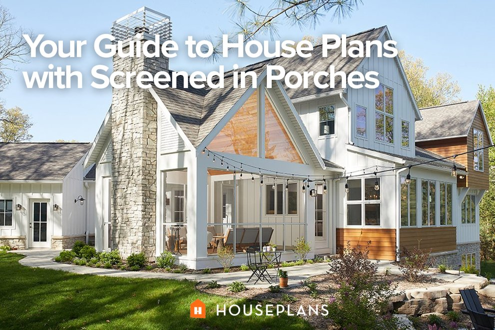 house plans with screened in porches