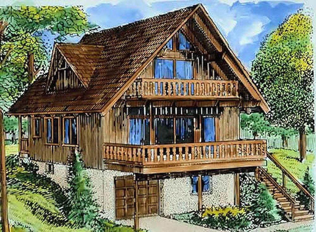 Cottage Style House Plan 3 Beds 2 Baths 1614 SqFt Plan