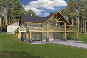 A Frame House Plans from HomePlans com Plan