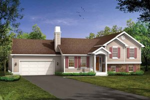 Split Level Ranch House Plans at BuilderHousePlans com Plan