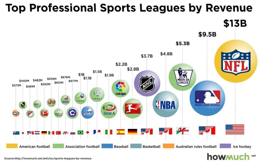 Ranking of Sports Leagues by Revenue