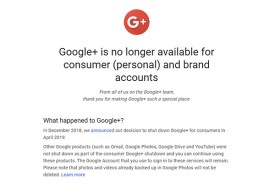 And Only One Thing Happened: The Next Day, Google Plus Was Gone