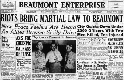 Reflecting On The Beaumont Race Riot Of 1943 – Houston Public Media