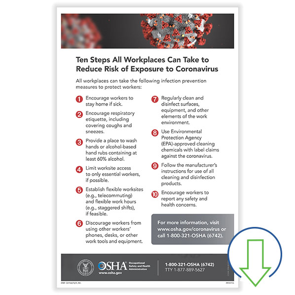 downloadable osha covid 19 in the workplace poster