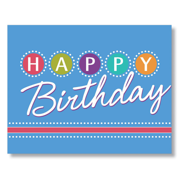 Birthday Lights Birthday Card for Employees, Clients and ...