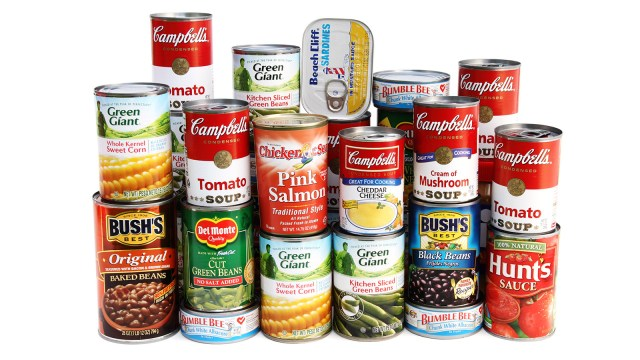 Eating canned food