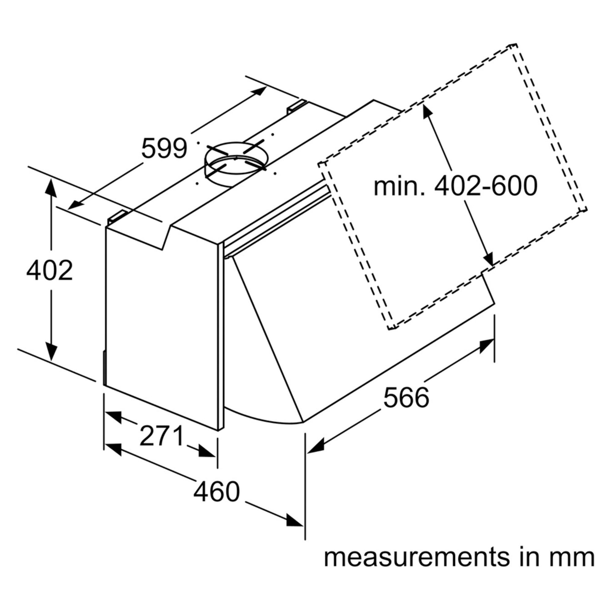 Bosch Dem63ac00b 600mm Integrated Cooker Hood