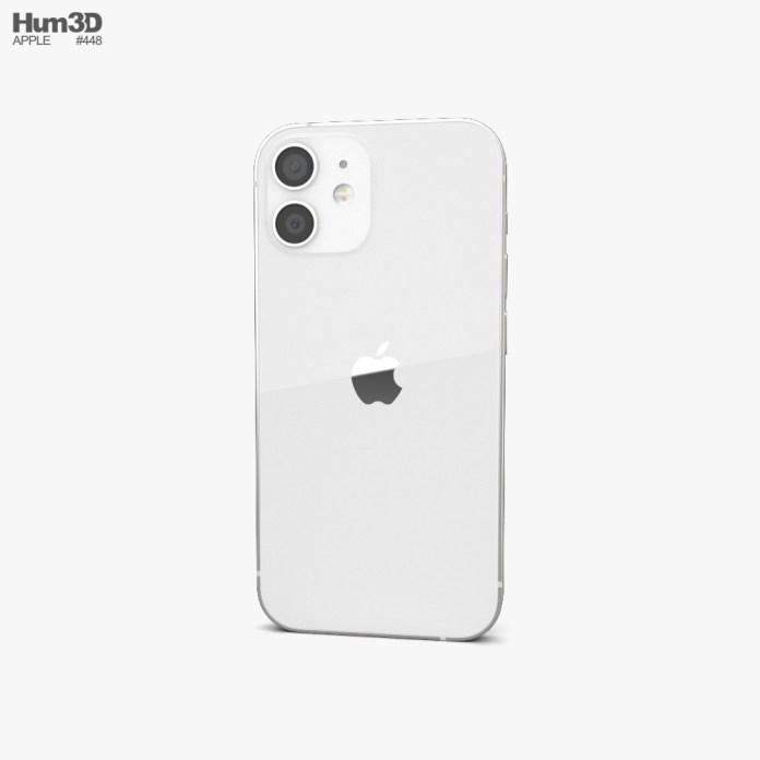 Apple Iphone 12 Mini White 3d Model Electronics On Hum3d
