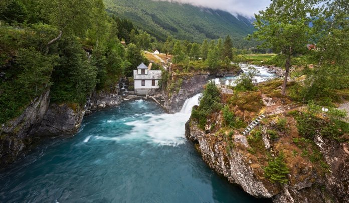 A river in a mountainous area of Norway, where 99 per cent of its electricity is generated by hydropower. Photo: Shutterstock