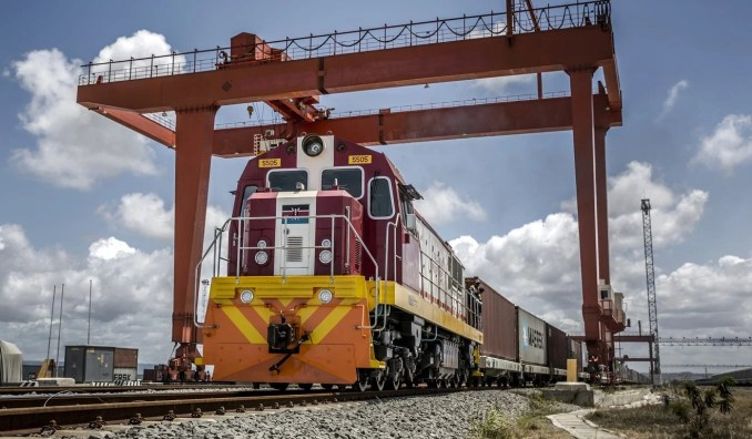 China has helped build railways in Kenya. Photo: Bloomberg
