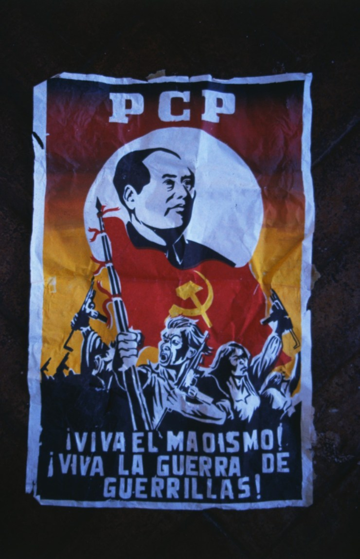 A Peruvian Communist Party poster. Photo: Getty Images