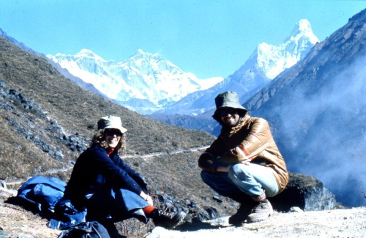 Maureen (left) and Tony enjoy the mountain views in Nepal. Photo: SCMPOST