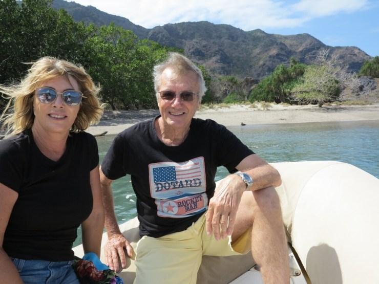 Maureen and Tony in the Komodo Islands, Indonesia in 2018. Photo: Maureen and Tony Wheeler