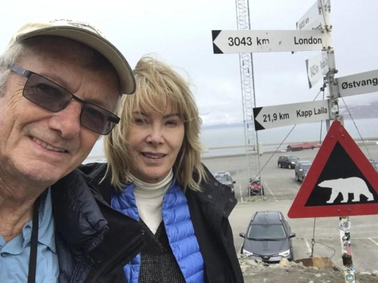 Tony and Maureen in Svalbard, Norway, last year. Photo: Maureen and Tony Wheeler