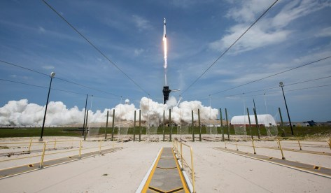 A SpaceX rocket launches from Nasa's Kennedy Space Centre in Florida. Photo: AFP